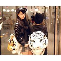 Mochila Cabeza De Tigre Moda Japon Pastel Goth Importación