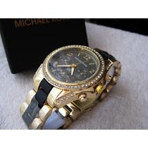 Hermoso Reloj Michael Kors Elegante Combinado Subasta 1 Peso
