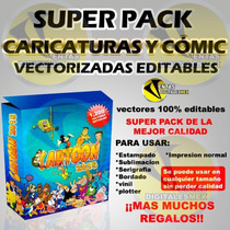 Super Pack Caricaturas Y Cómics Vectores Editables + Regalos