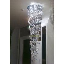 Lampara De Cristal En Forma Espiral De Luz Led Para Techo