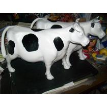Gcg Lote De 2 Vacas Blancas Grandes De Plastico Retro