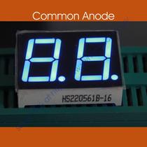 Arduino: Display De 7 Segmentos 2d Azul De 0.56 Anodo Comun