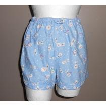 Disney! Short De Pijama Azul Claro, Diseño De Mickey, S-xs