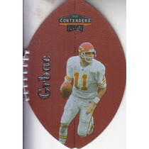 1998 Playoff Contenders Leather Elvis Grbac Qb Chiefs