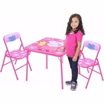 Mesa De Actividades Infantil 2 Sillas Peppa Pig