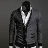 Sweater Hombre Cuello En V Slim Fit Estilo Elegante Formal