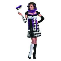 Disfraz Arlequin Mujer De Lujo Talla Chica (4/6)