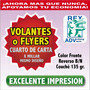 1000 Volantes Flyers Todo Color $0.17 C/u Flayers 1/4 Carta