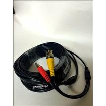 Cable Siames Coaxial 15mts Para Camara Cctv Video Voltaje