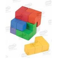 Juego Cubo Creativo De Colores 100% Madera 9 Piezas 5+ Diako
