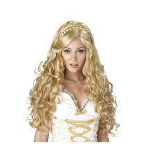 Peluca De Princesa Rubia, Diosa Para Damas, Envio Gratis