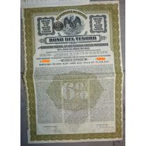 Bono Del Tesoro Mexicano - Tesoro 195 - £20, 6% Oro, 1913.