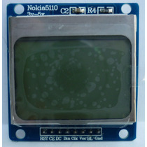 Pantalla Lcd Nokia 5110 48x84 Back Light Blue Pic Arduino