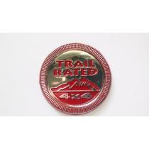 Emblema Trail Rated 4x4 De Jeep Rojo