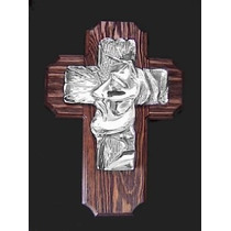 Cruz De Pewter Rostro De Jesus