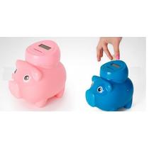Alcancia Digital Cuenta Monedas De Cochinito Rosa O Azul