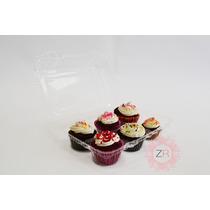 25 Charolas Desechables Para Cupcake Estándar 6 Cavidades