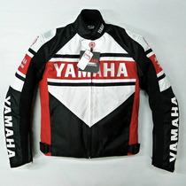 Chamarra Yamaha Blanca Con Rojo Con Protecciones