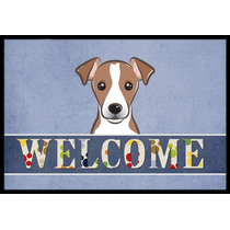 Jack Russell Terrier Bienvenido Mat Interiores O Exteriores