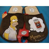 25-26 Pantuflas Homero Simpson Originales Pago Contado Cynld