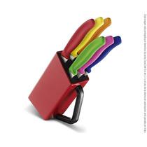 Block De 6 Cuchillos Para Carne / Pizza Victorinox 6.7126.6