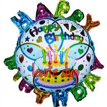 5 Globos Happy Birthday Con Letras Feliz Cumpleaños Fiesta
