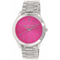 Michael Kors Reloj Mujer Plateado Mk3291 Slim Runway Pink