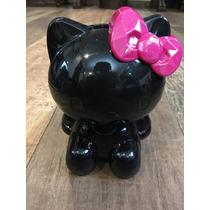 Figura Hello Kitty Plástico Negro Para Cosméticos O Lapices