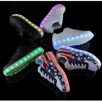 Tenis Led-zapatos Luminosos Unisex Diferentes Modelos!!!
