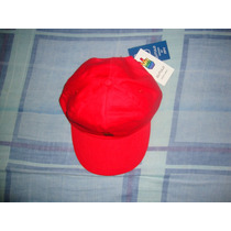 Gorra Marca Gutulo,gabardina. Red, Caps & Complements Label