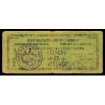 Territorio De La Baja California 5 Pesos 21-8-1914 M816b
