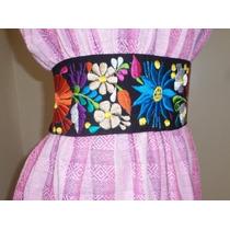 Cinturon Bordado Artesania Mexicana. El Accesorio Ideal