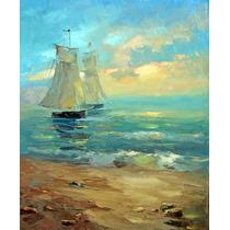 Boats&sunset - Cuadros, Pinturas Al Oleo De Dmitry Spiros