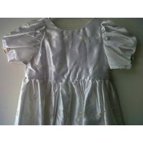 Vestido Bautizo Largo Blanco Niña Talla 3, Mma