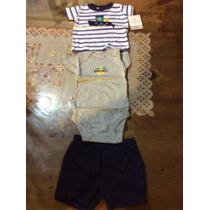 Cojuntos Para Bebes Niño Carters Pants Tallas 3 Meses 3pzs
