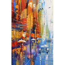 Blue Taxi - Cuadros, Pinturas De Dmitry Spiros 180 X 80cm
