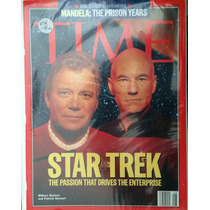 Revista Time Con Los Capitanes Famosos De Star Trek.