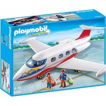 Playmobil Set 6081 Avión De Pasajeros Blanco Ciudad Js