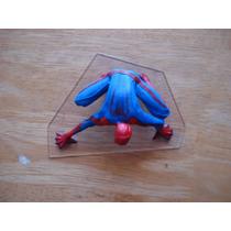 Spiderman Figura C/base Transparente Mide 12 Cms
