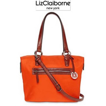 Bolsa Liz Claiborne Naranja Cafe Grande Cross Body Hermosa!!