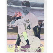 1991 Upper Deck Looney Tunes Hologram Nolan Ryan Rangers