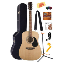 Exclusivo Combo De Guitarra Fender Squier Acoustic Estuche