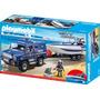 Playmobil 5187 Camioneta Y Lancha De La Policia Envio Gratis