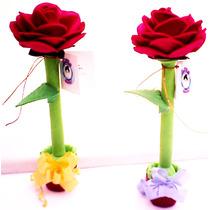 Fofupluma Rosa Una Útil Pluma Decorada Como Flor En Fomi