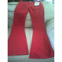 Jeans Nuevos Dama Marca Bershka Color Rojo, Maa