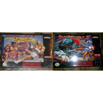 2 Juegos Nuevos Street Fighter Ii Y S Fighter Ii Turbo Snes