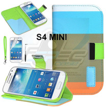 Funda Cartera Soporte Tricolor + Regalos Galaxy S4 Mini Maa