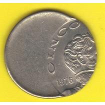 5 Pesos 1978 México Moneda Vicente Guerrero Con Error - Hm4