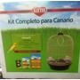 Jaula Para Canario Con Alimento Y Accesorios