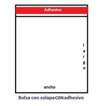1000 Bolsas Polipropileno (celofán) 30 Mcs 7x10 Con Adhesivo